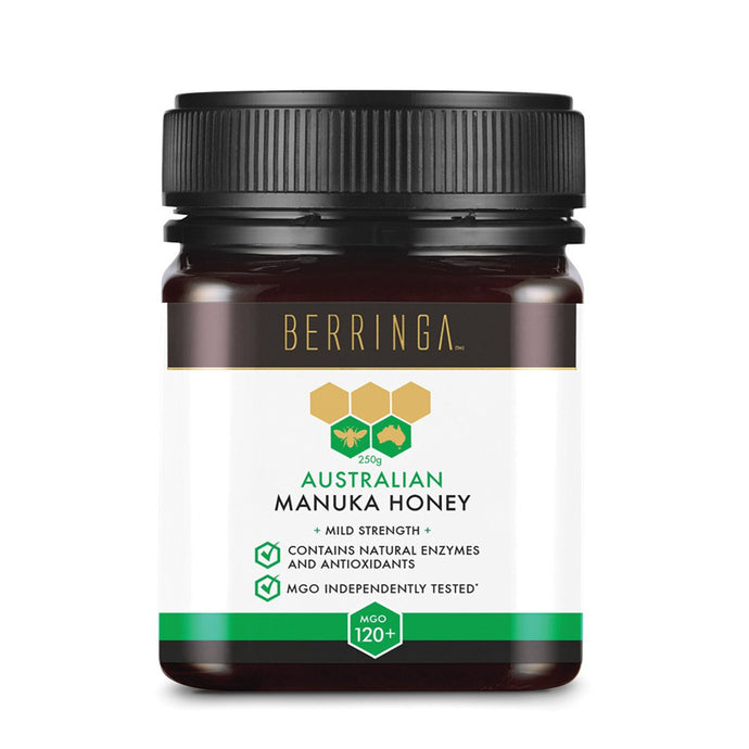 Berringa, Australian Manuka Honey Mild Strength (Mgo, 120+), 250g