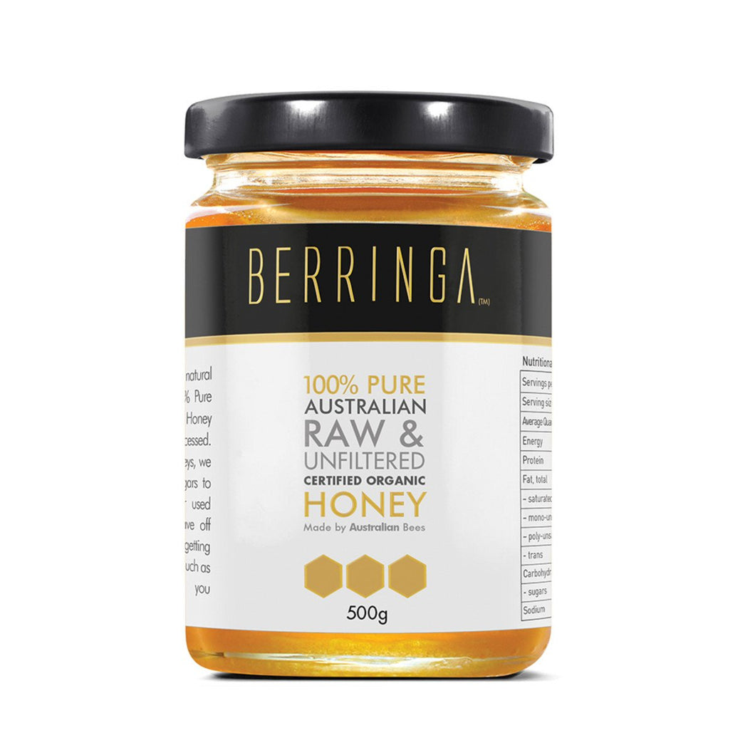 Berringa, Australian Pure Organic Raw & Unfiltered Honey, 500g