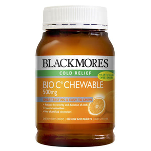 Blackmores, Bio C Chewable, 500Mg, 200 Tablets