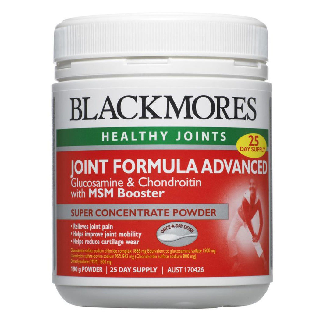 Blackmores, Joint Formula Advanced With Msm Booster Powder, 190g