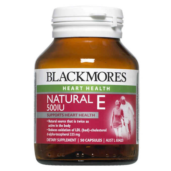 Blackmores, Natural Vitamin E, 500Iu, 50 Capsules