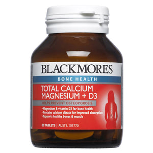 Blackmores, Total Calcium And Magnesium, 60 Tablets