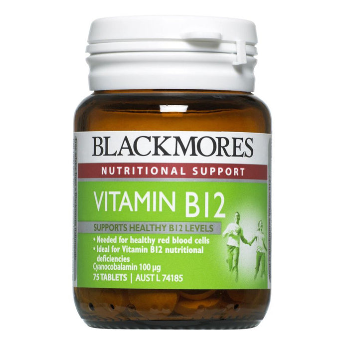 Blackmores, Vitamin B12, 100Mcg, 75 Tablets