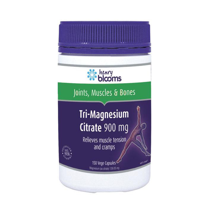 Henry Blooms Tri Magnesium Citrate 900mg 150c