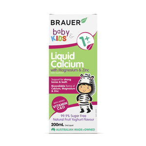 Brauer, Baby And Kids Calcium With Magnesium And Zinc Liquid, 200ml