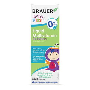 Brauer, Baby And Kids Multivitamin For Infants Liquid, 45ml