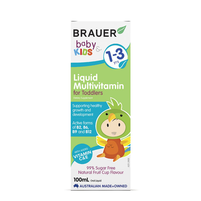 Brauer, Baby And Kids Multivitamin For Toddlers Liquid, 100ml