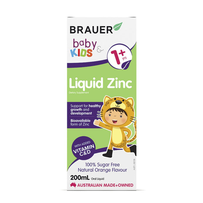 Brauer, Baby And Kids Zinc Liquid, 200ml