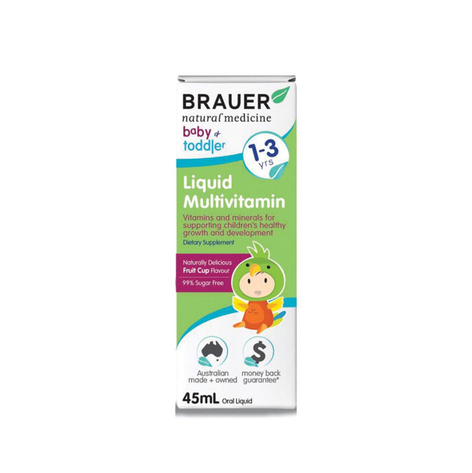 Brauer, Baby And Toddler Multivitamin Liquid, 45ml