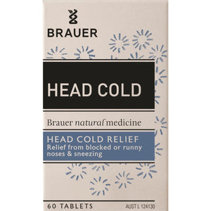 Brauer, Head Cold For Head Cold Relief, 60 Tablets