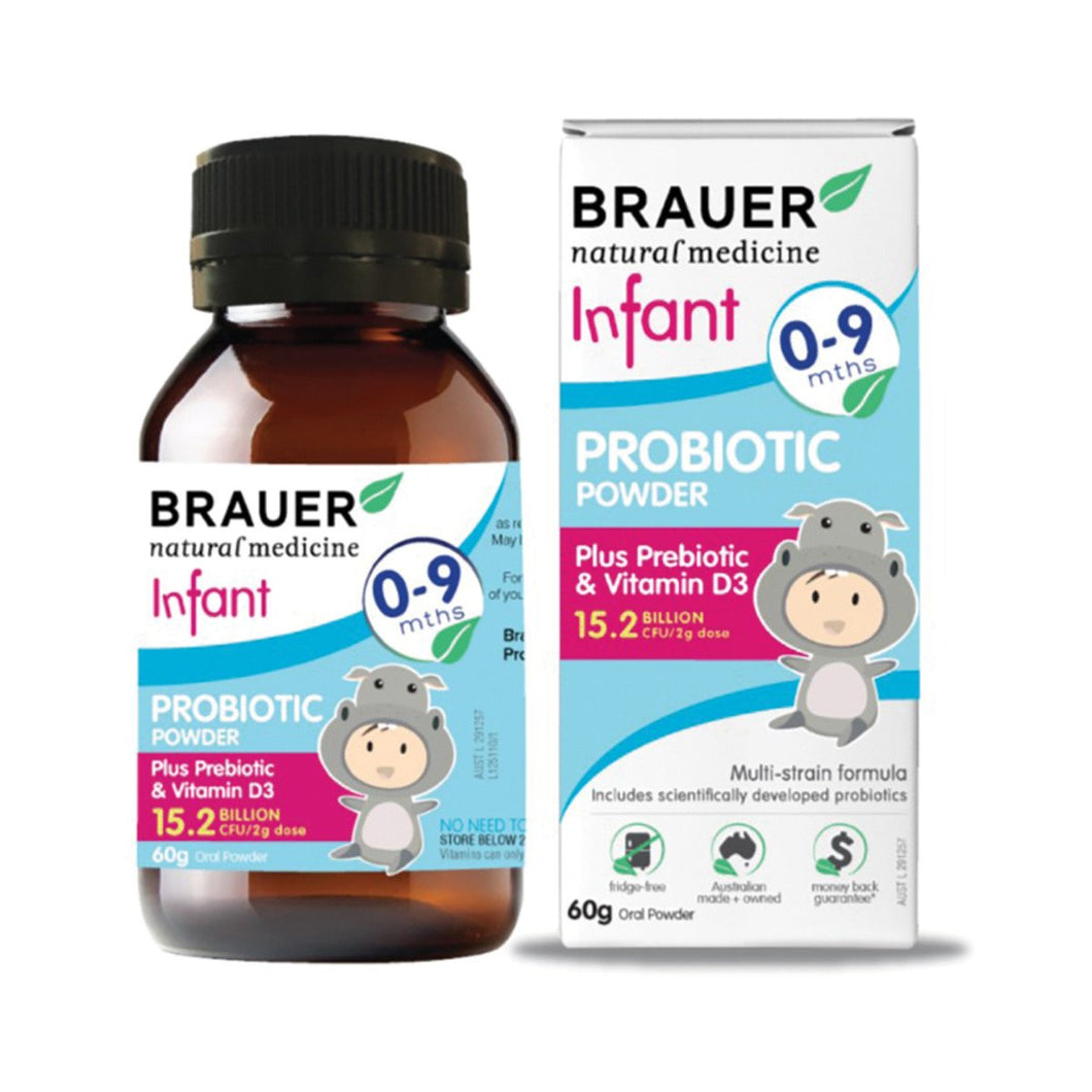 Brauer, Infant 0 To 9 Months Probiotic Powder, 60g