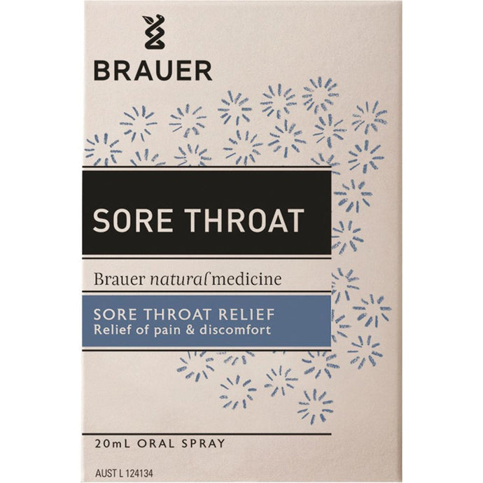 Brauer, Sore Throat Relief Oral Spray, 20ml