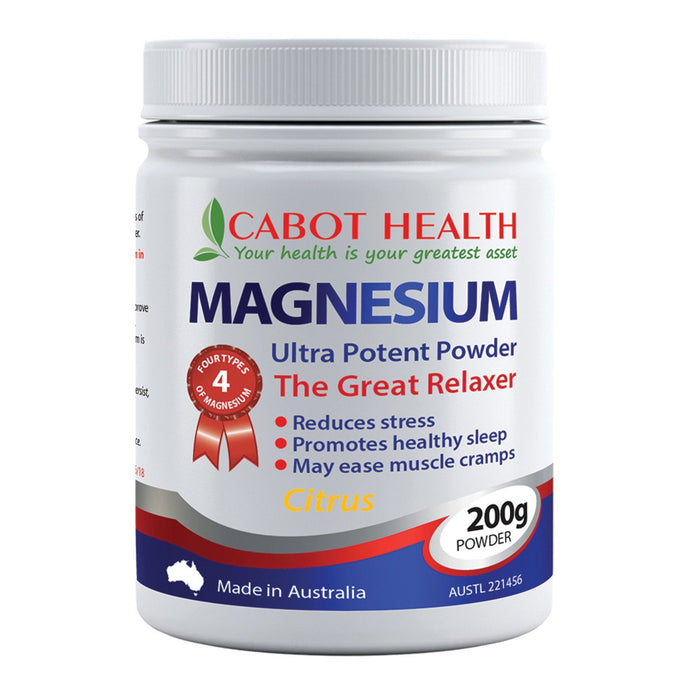 Cabot Health, Magnesium Ultra Potent Strawberry Powder, 200g