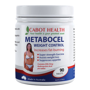 Cabot Health, Metabocel Weight Control With Super Strength Garcinia, 90 Tablets