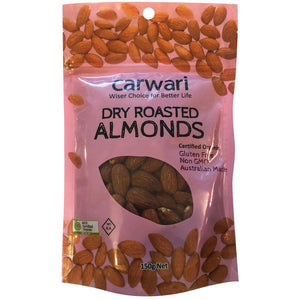 Carwari Organic, Almonds Dry Roasted, 150g