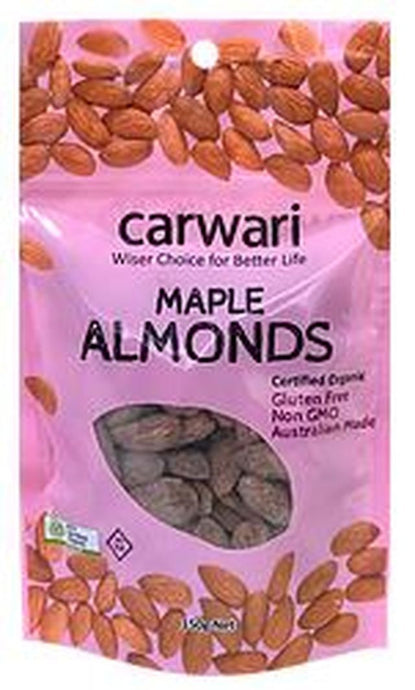 Carwari Organic, Almonds Maple Roasted, 150g