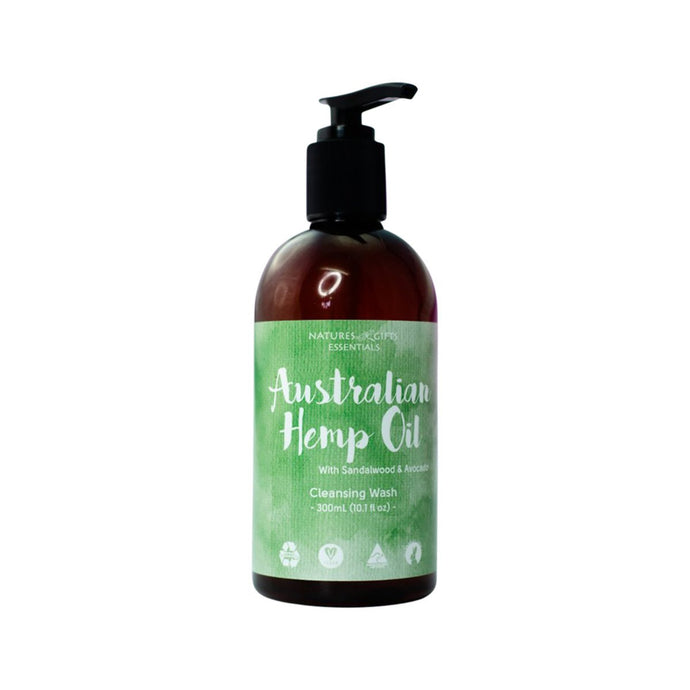 Clover Fields, Nature'S Gifts Australian Hemp Oil With Sandalwood & Avocado Cleansing Wash, 300ml