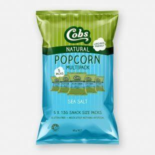 Cobs, Popcorn Multipack Sea Salt, 5 x 13g