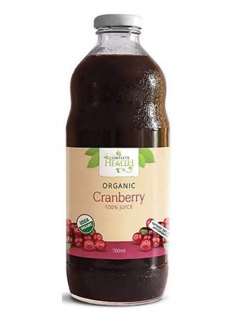 Complete Health, Cranberry 100% Juice Organic, 700ml