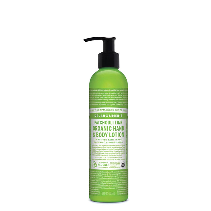 Dr.Bronner'S, Org Hand & Body Lotion Patchouli Lime, 237ml