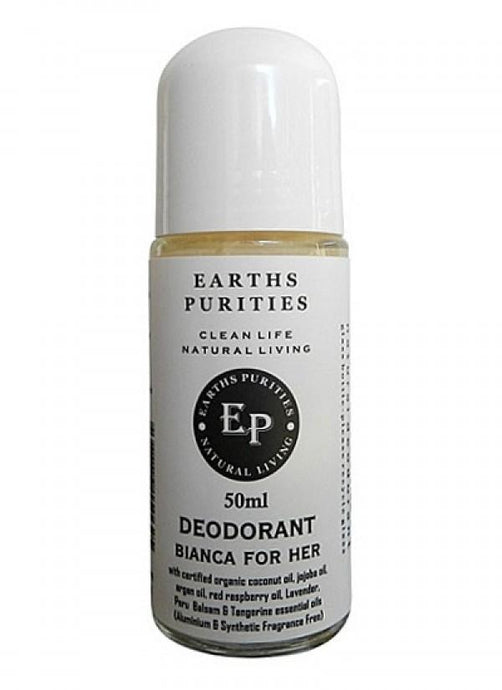 Earths Purities, Ladies Bianca Rollon Deodorant, 50g