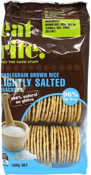 EatRite, Brown Rice Crackers Li Salted, 100g