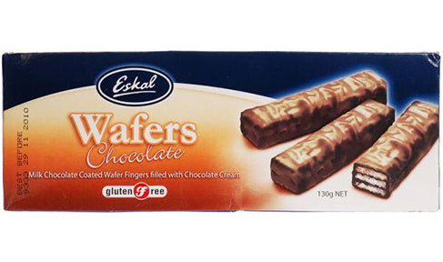 Eskal, Chocolate Coated Wafer, Gluten Free, 130 g