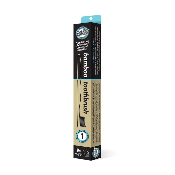 Essenzza, Fuss Free Naturals Toothbrush Bamboo Activated Charcoal Soft