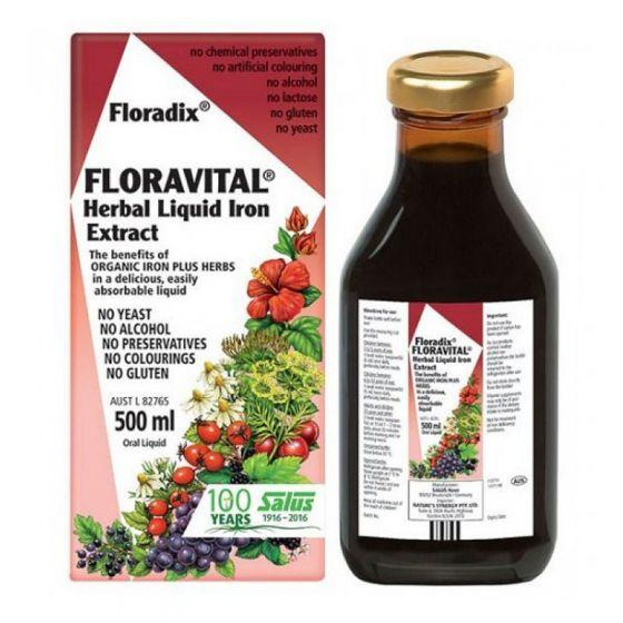 Floradix Floravital (Herbal Liquid Iron Extract) 500ml Oral Liquid