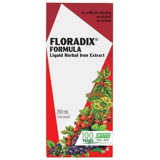 Floradix, Formula Liquid Iron Herbal, 250ml