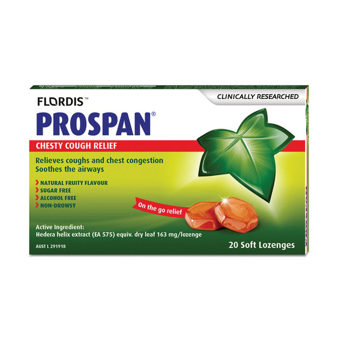 Flordis, Prospan Chesty Cough Relief Soft Lozengesx20 Pack