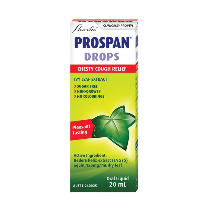 Flordis, Prospan Drops Chesty Cough Relief, 20ml Oral Liquid