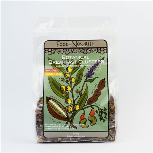 Food to Nourish, Clusters Cacao Wattleseed, 500g