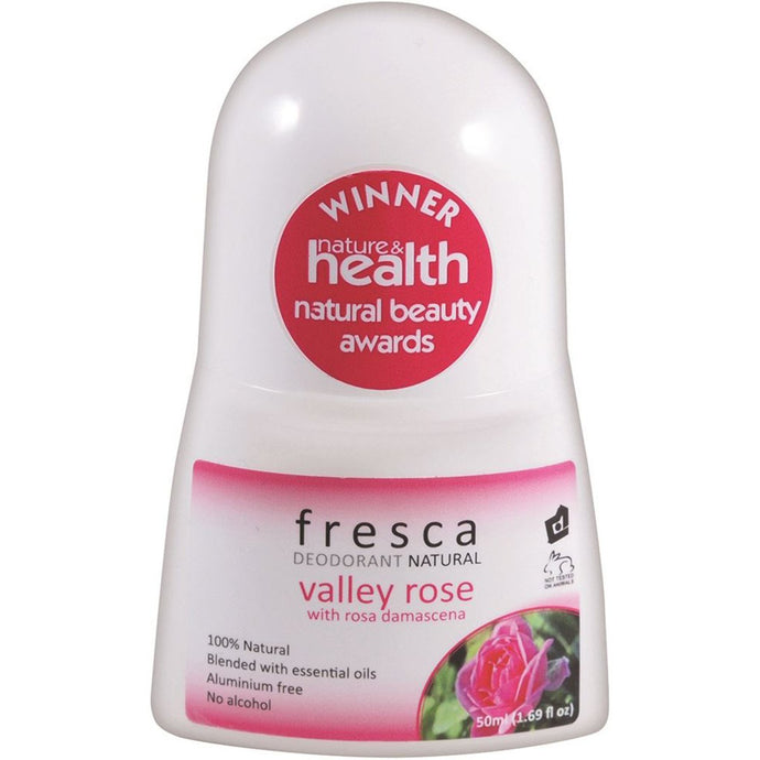 Fresca Natural, Deodorant Valley Rose (With Rosa Damascena), 50ml