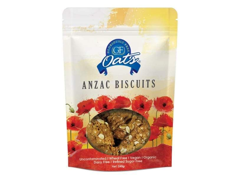 Gloriously Free, GF Oats Anzac Biscuits, 240g