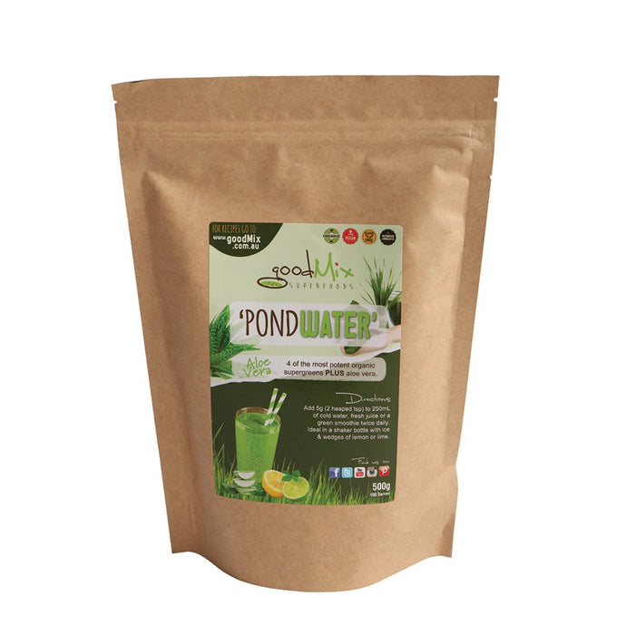 Goodmix, Superfoodspondwater (Supergreens) Aloe Vera, 500g
