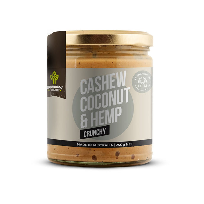Grounded, Spread Cashew Coconut And Hemp Crunchy, 250g