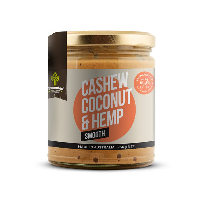 Grounded, Spread Cashew Coconut And Hemp Smooth, 250g
