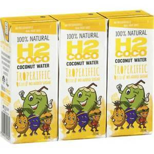 H2COCO, Coconut Water Troperiffic, 3 x 200ml