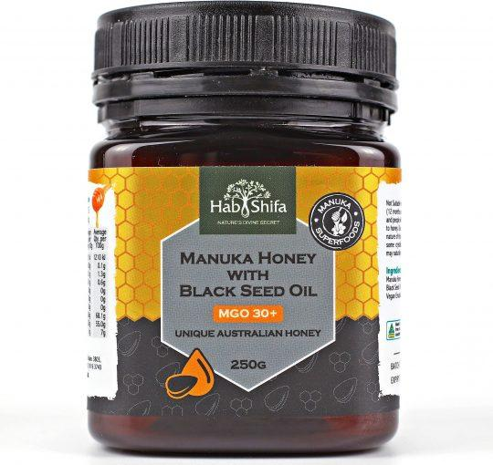 Hab Shifa, Manuka MGO30+ with Black Seed, 250g