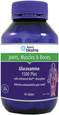 Henry Blooms, Glucosamine 1500 Plus (with enhanced BioP), 90 tablets
