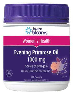 Henry Blooms, Health Products Evening Primrose Oil, 1000 mg 200 Capsules
