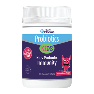 Henry Blooms, Kids Probiotic Immunity Berry Flavour, 60 chewable tablets