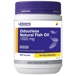 Henry Blooms, Omega 3 ODOURLESS Natural Fish Oil, 1000mg 400 capsules