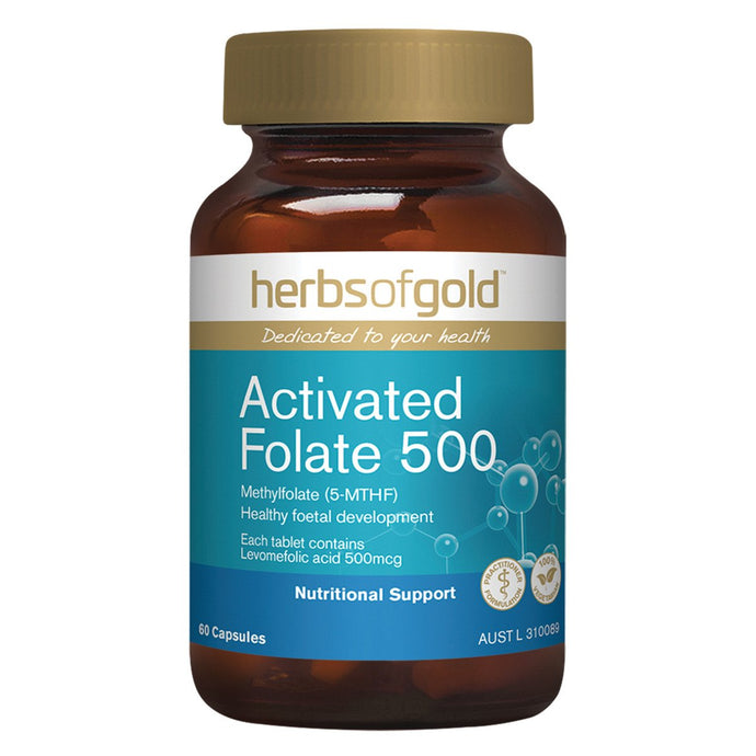 Herbs Of Gold, Activated Folate, 500, 60 Capsules