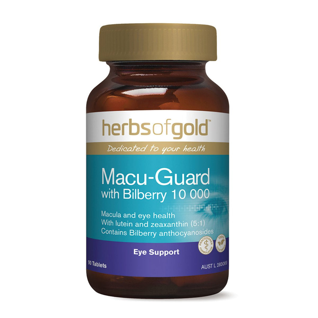 Herbs Of Gold, Macu-Guard With Bilberry, 10 000, 90 Tablets