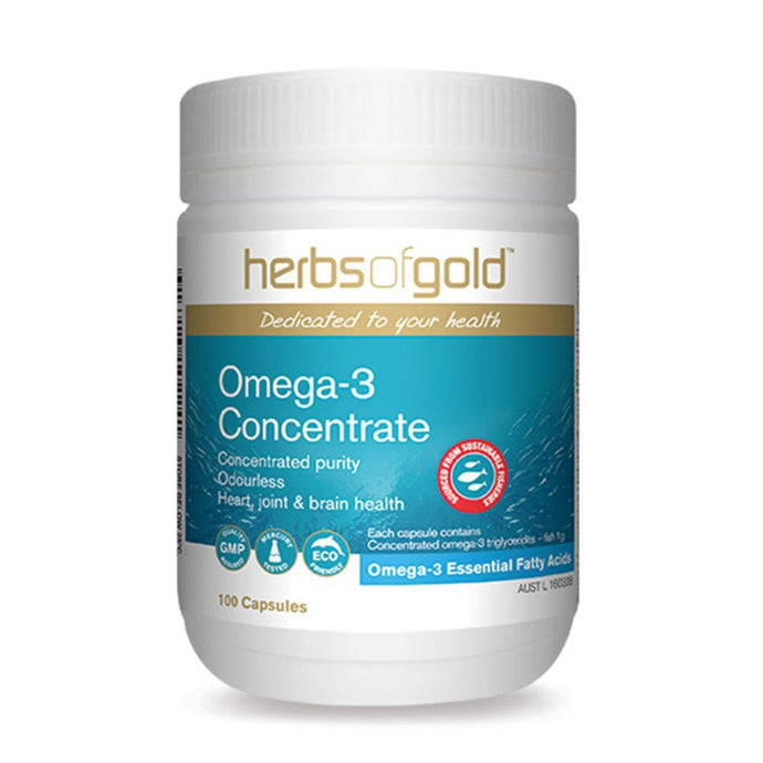 Herbs Of Gold, Omega-3 Concentrate, 100 Capsules