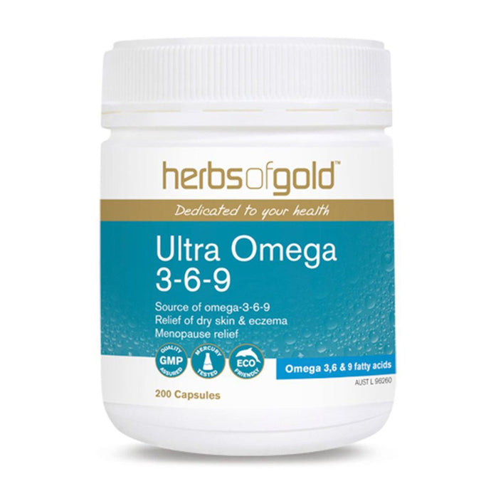 Herbs Of Gold, Ultra Omega, 3-6-9, 200 Capsules