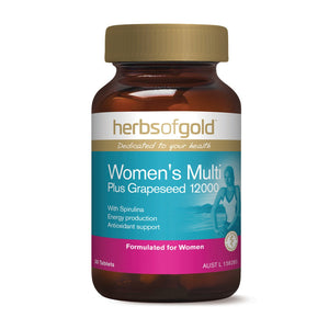 Herbs Of Gold, Women'S Multi Plus Grapeseed, 30 Tablets