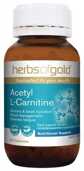 Herbs of Gold, Acetyl L Carnitine, 60 Veggie Capsules